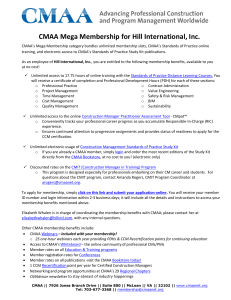 CMAA Mega Membership for Hill International, Inc.