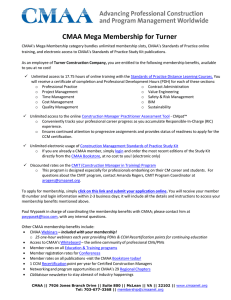 CMAA Mega Membership for Turner