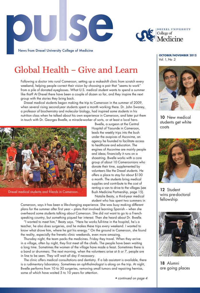 Global Health – Give and Learn