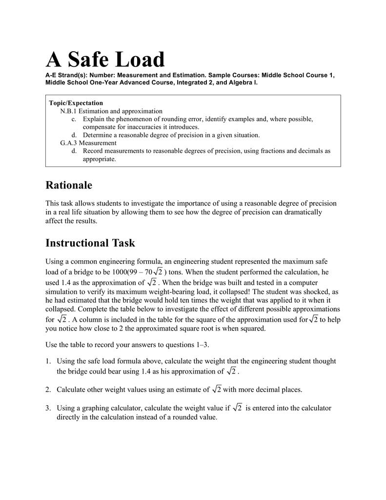 A Safe Load