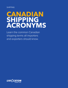 CANADIAN  SHIPPING ACRONYMS