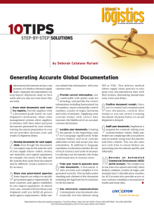 10 TIPS I Generating Accurate Global Documentation