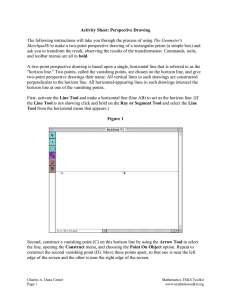 Activity Sheet: Perspective Drawing  The Geometer's