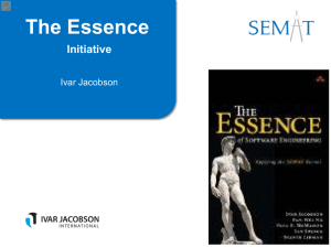 The Essence Initiative  Ivar Jacobson