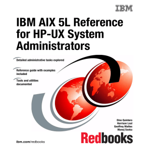 IBM AIX 5L Reference for HP-UX System Administrators Front cover