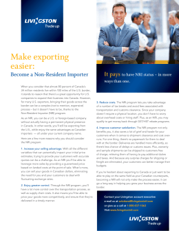 Make exporting easier: It pays