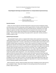 Pulsed Magnetic Field Design and Implementation For a Faraday Rotation... Proposal to the Independent Projects/Research Opportunities Program for a project on