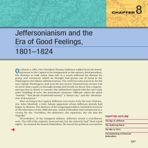 8 Jeffersonianism and the Era of Good Feelings, 1801–1824