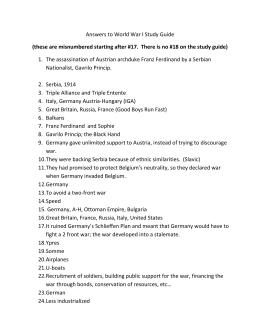 world war i review sheet rh studylib net Anthem Study Guide Answers Apush Study Guide Answers