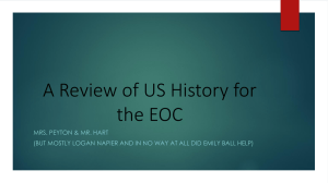 A Review of US History for the EOC
