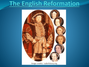 Tudor Dynasty and the English Reformation