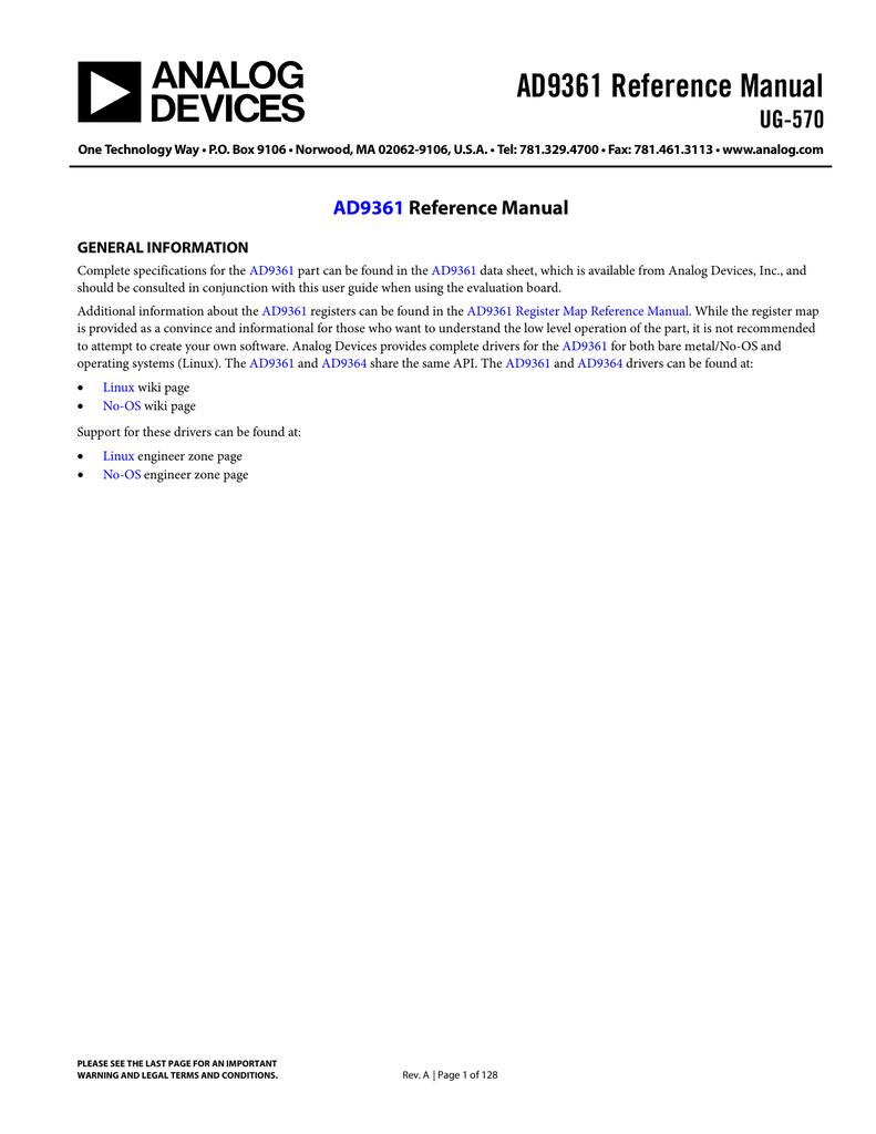 AD9361 Reference Manual UG-570