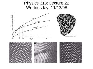 Physics 313: Lecture 22 Wednesday, 11/12/08