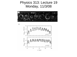 Physics 313: Lecture 19 Monday, 11/3/08