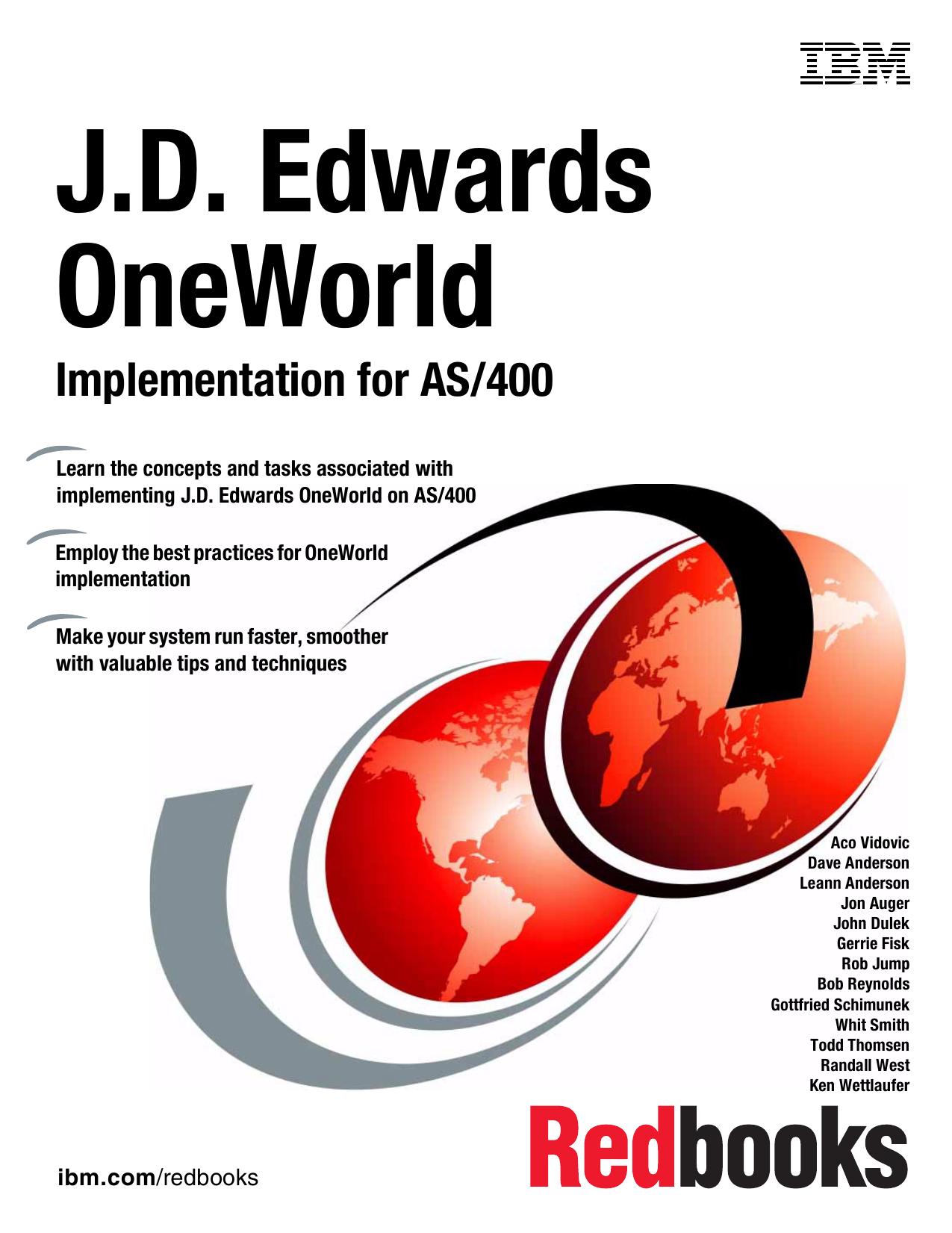 J D  Edwards OneWorld Implementation for AS/400