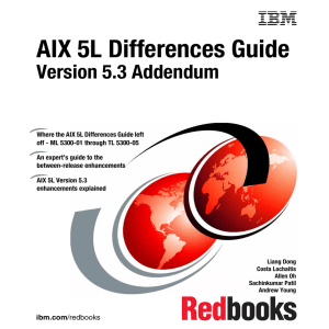 AIX 5L Differences Guide Version 5.3 Addendum Front cover