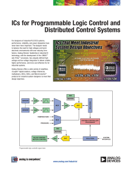 ICs for Programmable Logic Control and Distributed Control Systems