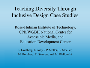 Teaching Diversity Through Inclusive Design Case Studies