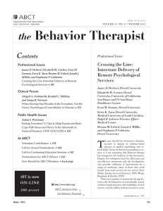 Behavior Therapist the C