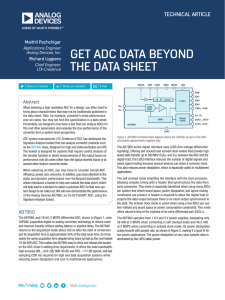 GET ADC DATA BEYOND THE DATA SHEET TECHNICAL ARTICLE Maithil Pachchigar