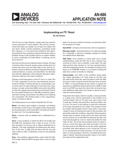 AN-686 APPLICATION NOTE Implementing an I C