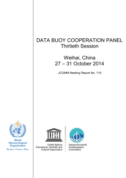 DATA BUOY COOPERATION PANEL Thirtieth Session  Weihai, China