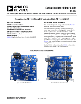 Evaluation Board User Guide UG-087