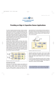 Providing an Edge in Capacitive Sensor Applications by Analog Devices.