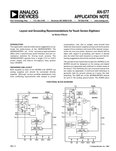 a AN-577 APPLICATION NOTE Layout and Grounding Recommendations for Touch Screen Digitizers