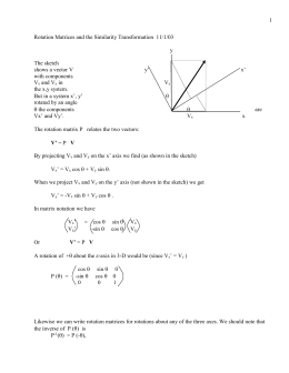 1 Rotation Matrices and the Similarity Transformation  11/1/03 y