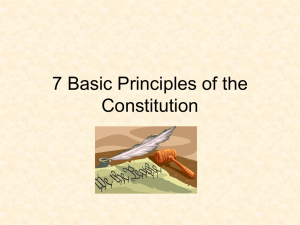 7 Basic Principles of the Constitution