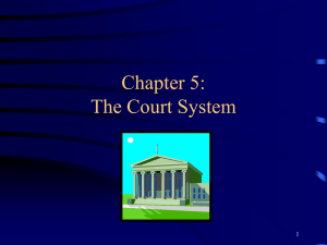 Chapter 5: The Court System 1