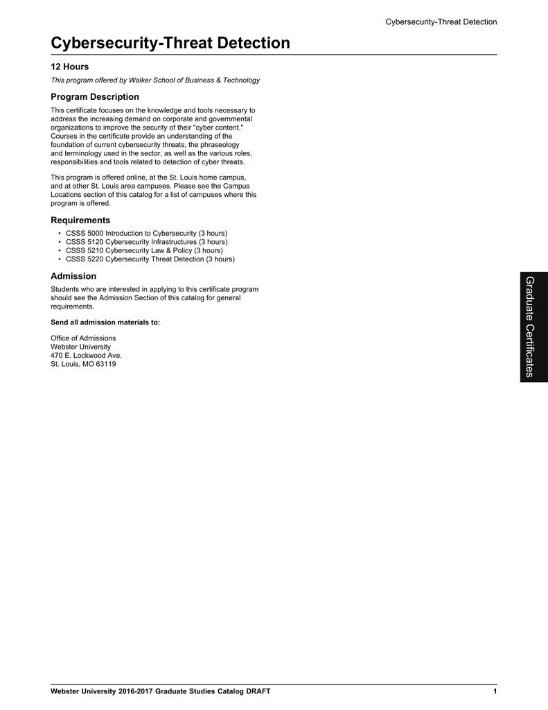 Cybersecurity threat detection 12 hours program description xflitez Choice Image