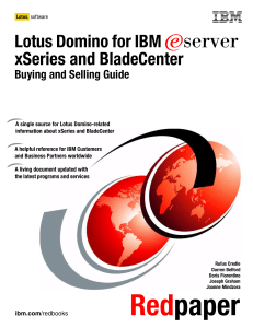 Lotus Domino for IBM xSeries and BladeCenter E