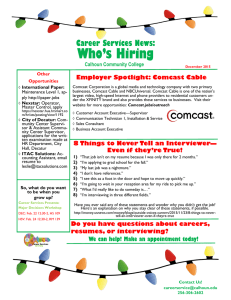 Who's Hiring Career Services News: Employer Spotlight: Comcast Cable Calhoun Community College