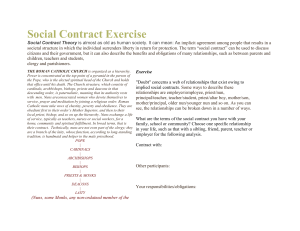 Social Contract Exercise