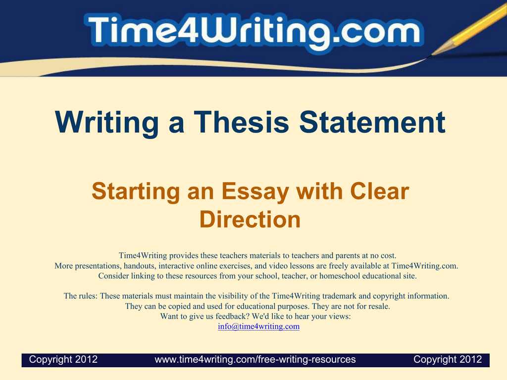 Essay On English Subject  Cause And Effect Essay Papers also Proposal Essay Format Writing A Thesis Statement Starting An Essay With Clear Direction Protein Synthesis Essay
