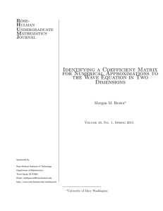 Identifying a Coefficient Matrix for Numerical Approximations to Dimensions