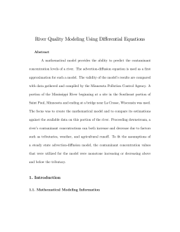 River Quality Modeling Using Differential Equations