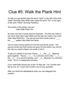 Clue #5: Walk the Plank Hint