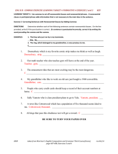 ENG II B:  COMMAS EXERCISE LEARNING TARGET 4 FORMATIVE...