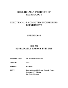 ROSE-HULMAN INSTITUTE OF TECHNOLOGY ELECTRICAL & COMPUTER ENGINEERING