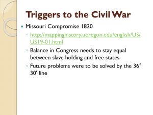 Triggers to the Civil War