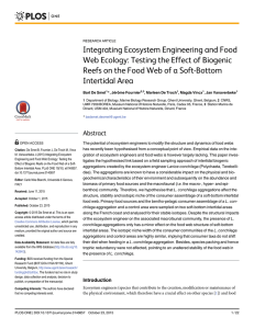 Integrating Ecosystem Engineering and Food