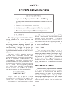 INTERNAL COMMUNICATIONS CHAPTER 3