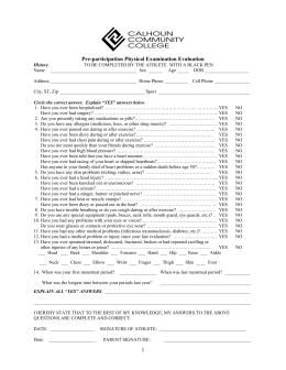 Preparticipation Physical Evaluation Form ALABAMA HIGH SCHOOL ...
