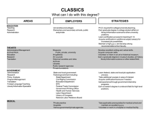 CLASSICS What can I do with this degree? STRATEGIES AREAS