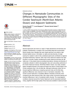 Changes in Nematode Communities in Different Physiographic Sites of the
