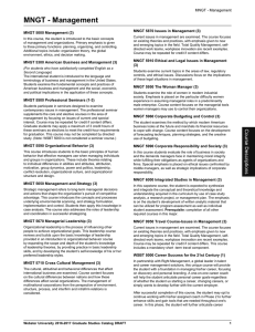 MNGT - Management MNGT 5870 Issues in Management (3)