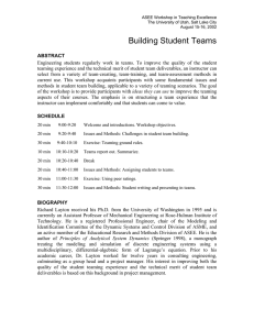 Building Student Teams